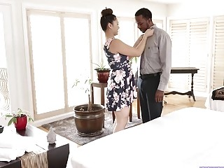 Monstercock Interracial Massage Porn With Asian Honey