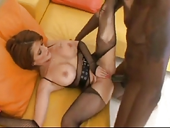 Busty Babe With Big Boobs Is Riding Her Ebony Lover's Cock