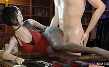 Sexy Booty Dva From Overwatch Pleasing Herself