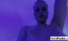 Nadia White Masturbating In The Shower