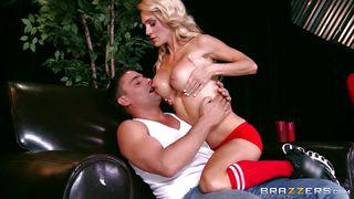 Big Tit Blonde Sucking A Big Dick