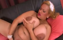 Chubby Slut With Enormous Tits Fingering Herself