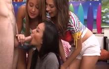 Three Cock Hungry Girls