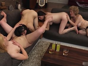 Hot Lesbians Licking And Teasing Each Others Sexual Parts