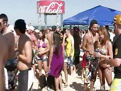 Girls Party Hard At Spring Break Bash
