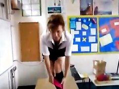 Schoolgirl Fucked On Desk In The Classroom