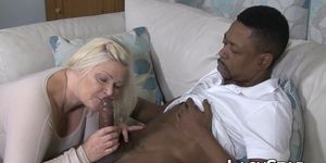 LACY STAR – Busty Granny Gives Blowjob Before Interracial Anal Drilling