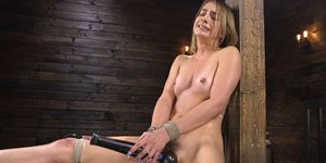 Bound Hairy Blonde Is Machine Banged