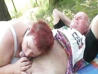 Brunette Gets Horny For Old Cock And Granny Lets Her Join In