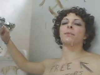 Chick Sucks Random Dicks On Cam In Dirty Bathroom