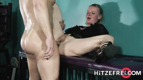 Blond Hair Girl German Mature Dirty Tina Fucks A Younger Guy