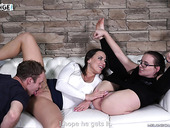 Wendy Moon Gives A Cunnilingus To Mea Melone Before Threesome Sex