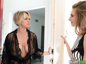 Mature Lesbian Dee Williams Puts On Strapon And Fucks Beautiful Young Partner