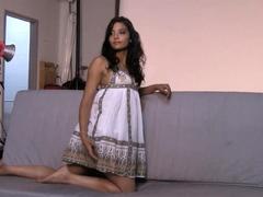 Beautiful British Babe Shanaya Casting Video