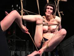 Tattooed Suspension Bondage Of Slave Reversa