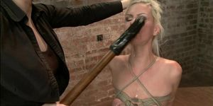 Blonde Is Gagged And Butt Plugged