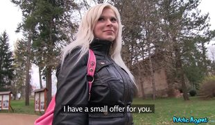 Public Agent Fucks Busty Blonde Barbara Nova In Public Park