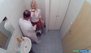 Blonde Beauty Fucks With Fake Doctor