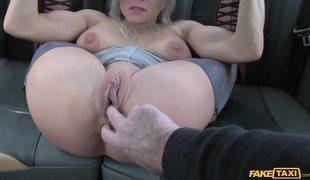 Sexy Blonde In Stockings Tara Spades Has Sex In London Fake Taxi