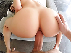 HD POV With Big Breasted Teen Cyrstal Rae Riding Huge Dick