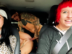Czech MILF Brittany Bardot   Backseat Squirting And Lesbian Fisting