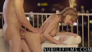 NubileFilms   Outdoor Romance Leads To Hot Fuck