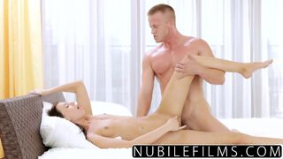 NubileFilms   Russian Babe's First Time Anal Massage