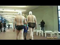 Hot Brunette Model Masturbating On Cam For Group Voyeurs