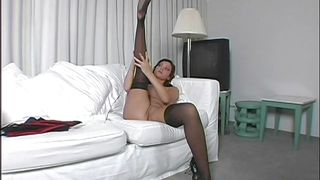 Amazing Mommy Takes Off Her Stockings
