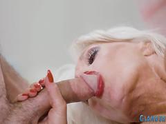 Glam Granny Sucking