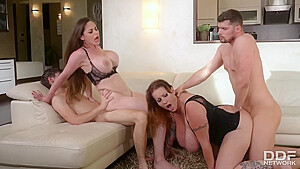 DDFBusty Laura Orsolya And Cathy Heaven Busty Group Sex