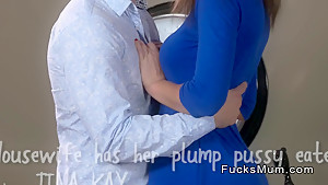 Beautiful Brunette Mom Sucks And Fucks Big Cock
