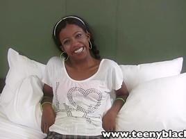 TeenyBlack Schoolgirl Swarthy Legal Age Teenager Nevaeh Interracial Facializ