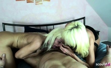 German Mature Caught Sister Fuck And Join In Threesome