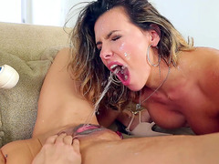 Nadia Styles Rains A Shower Of Pussy Fluid Into Danica Dillon's Mouth