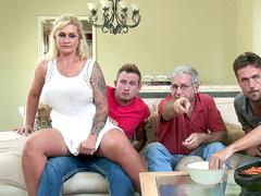 Ryan Conner Sneakily Fucks Her Stepson Right Beside Her Husband
