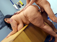 Sofia Rose Leaned On The Desk And Got Her Pussy Drilled