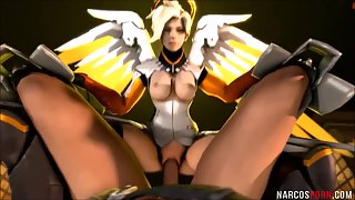 Busty Overwatch Babes After Ride On Throbbing Dick
