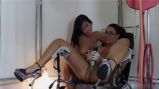 Slutty Lesbians Love Masturbating And Squirting Together While Using Toys