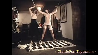 Submissive Vintage Chick Gets Toyed And Fucked During Kinky Trio
