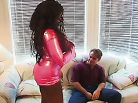 Good Solid Blowjob Is Provided By Extremely Bosomy Black Lady