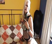 Blonde Babe Orgasms Playing With Her Sex Toys