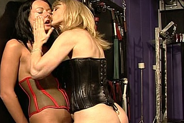 Melissa Is Tied Down While Nina Hartley Inserts Dildos In Her