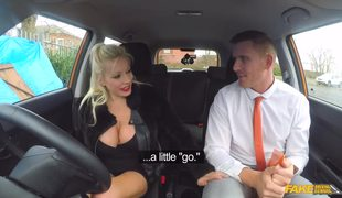 Huge Tits Blonde Michelle Thorne Distracting Her Instructor