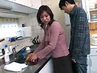 Japanese Mature Mother In Law Gets Fucked In The Kitchen