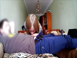Cute Girl Gets Cum On Her Back