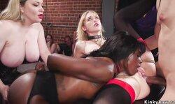 Blonde And Ebony Ana Foxxx Anal Bdsm Party