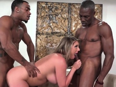 Kayley Gunner Takes Two BBCs In Front Of A Cuckold