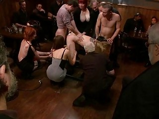 Gagged And Bounded Gal Gets A Public Humiliation