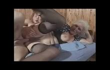 Hairy Grandma Banged Hard By Younger Boy